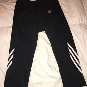 Adidas Striped Crop Workout Leggings